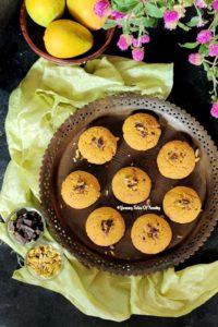 Aerial view of Mango Chocolate Cookies | Mango Cookies