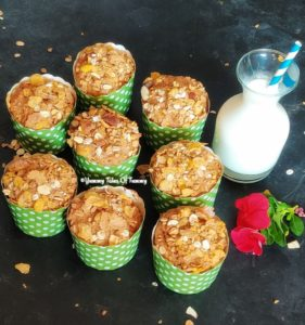 Sweet Muffins served with milk