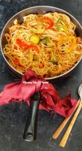 Read more about the article Veg Hakka Noodles Recipe