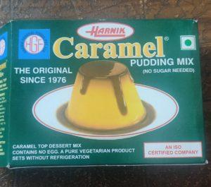 Readymade caramel pudding mix pack