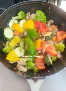 Vegetables used to make Thai curry