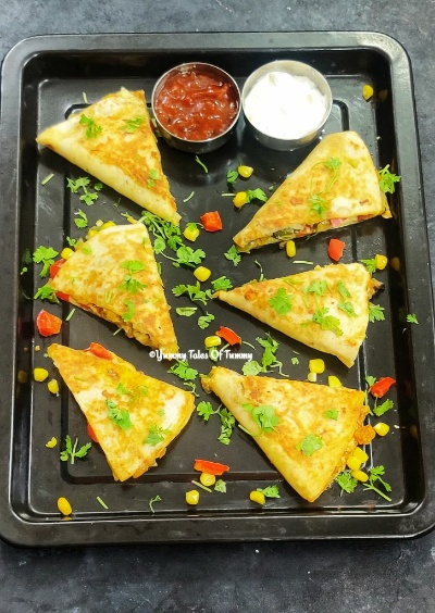Easy Vegetable Quesadillas | Veggie Quesadillas