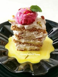 Read more about the article Rajgira Chikki Millefeuille Recipe