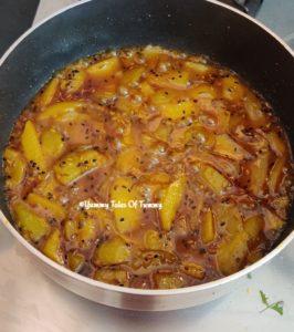 Aam ki launji   Sweet and spicy mango Chutney