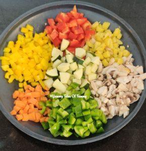 Vegetables used to make Easy Vegetable Quesadillas   Veggie Quesadillas