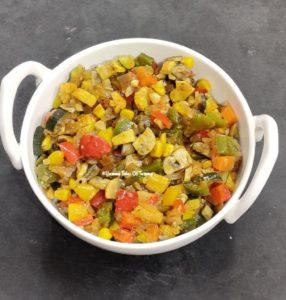 Stuffing to make Easy Vegetable Quesadillas   Veggie Quesadillas