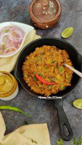 Read more about the article Baingan ka Bharta | Vegan eggplant curry |  Roasted Aubergine Curry