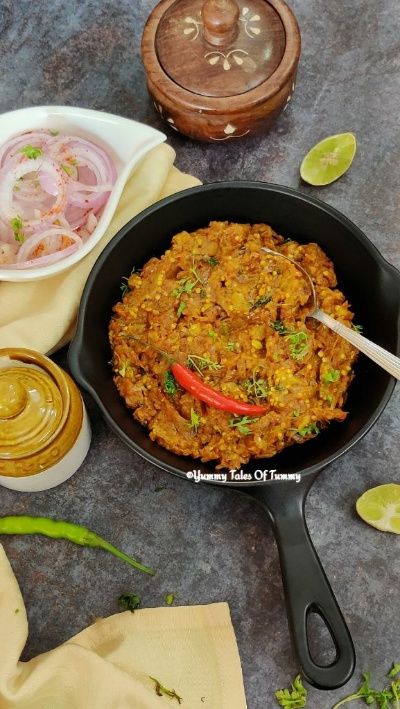Baingan ka Bharta | Vegan eggplant curry